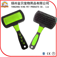 Double sides convenient use dog hair brush pet slicker brush comb