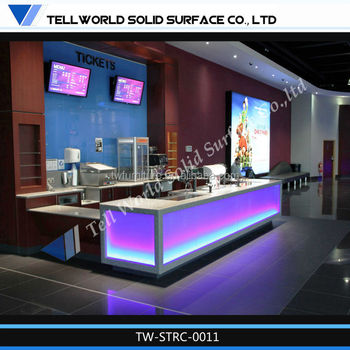 acrylic lighted reception desk tanning salon reception
