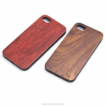 2017 Products New Arrival Wooden Case for iphone 7 for iphone 8 Real Wood Phone Case TPU Wood Design