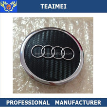 Car Logo Carbon Fiber Alloy Wheel Cover Center Wheel Cap