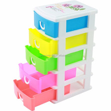 Greenside new design cheap 5 drawers plastic storage box