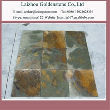 natural rust color slate tile,nature slate from NenJiang Topstone.