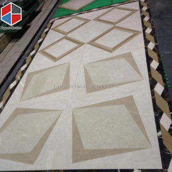 3D square beige ceramic tile