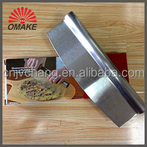 Promotional Price Sharpen Stainless Steel Blade Pizza Cutter, Rocker Knife, Pizza Accessory