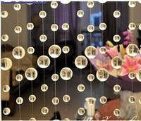 20m crystal glass garland round ball beads hanging curtain for wedding decoration