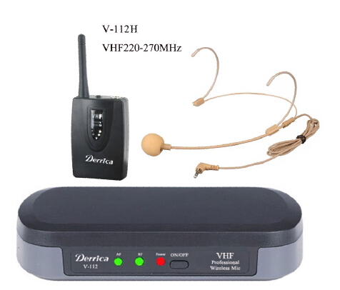 VHF wireless microphone,Lowest price,headworn microphone