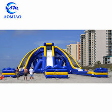 Commercial Backyard Inflatable Water Park Wide Shot TRIPPO Huge Water Slide
