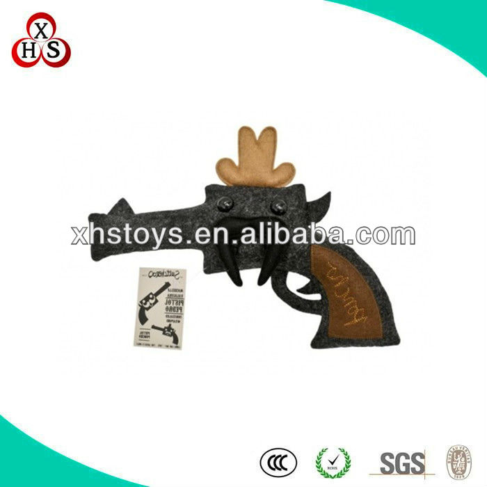 custom crazy toys&promotional toys&gun plush toy for kids