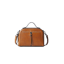 OEM custom bags fashion women leather handbag genuine leather crossbody bags with muti color
