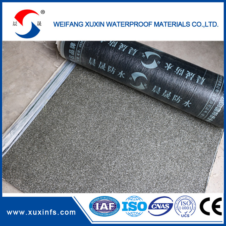 3mm 4mm Modified Asphalt Waterproofing Self-adhesive Roofing Membrane for Industrial Building Waterproofing