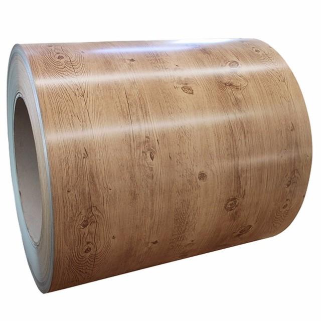 Wood grain prepainted steel ppgi coil for garage door