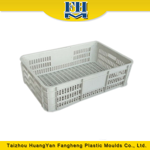 plastic crates injection mould/molding for fruits and vegetables made in china