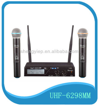 mini plastic professional newest design best UHF handheld wireless microphone system for karaoke