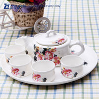 fine bone china teapot and cup set / China style teapot and cup combined for teahouse