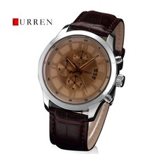 original curren 8137 brand women luxury 100% genuine leather strap watch date display men business military quartz analog watch