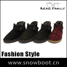 New style ankle boot Metal buckle Twill fabric winter snow boot