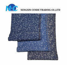New jacquard design lightweight blue denim yarn dyed cotton fabric for jeans shirt
