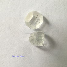 High-Tech Gem quality Large Size White Rough Synthetic Diamond(4mm)