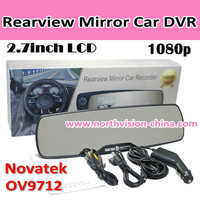 TFT-LCD Full HD 1080P Rearview Mirror Car DVR