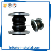 Pipe fittings clamp double ball epdm rubber compensator