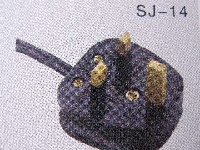 zhejiang shujie SJ-D06 IP44 uk ac power cord
