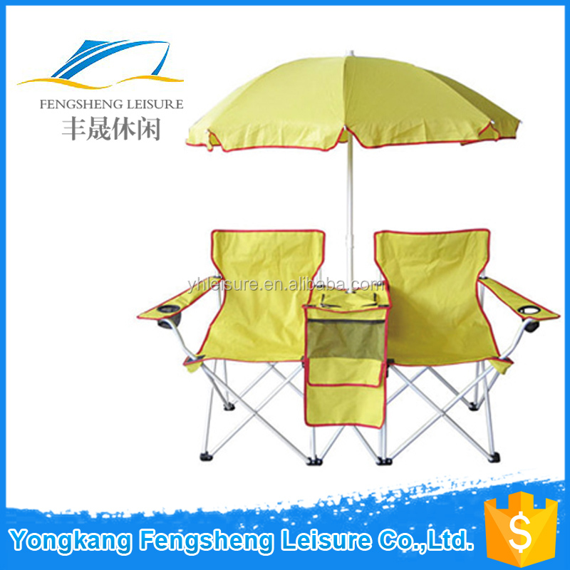 Umbrella Picnic Double Folding Chair with Fold Beach Camping Chair