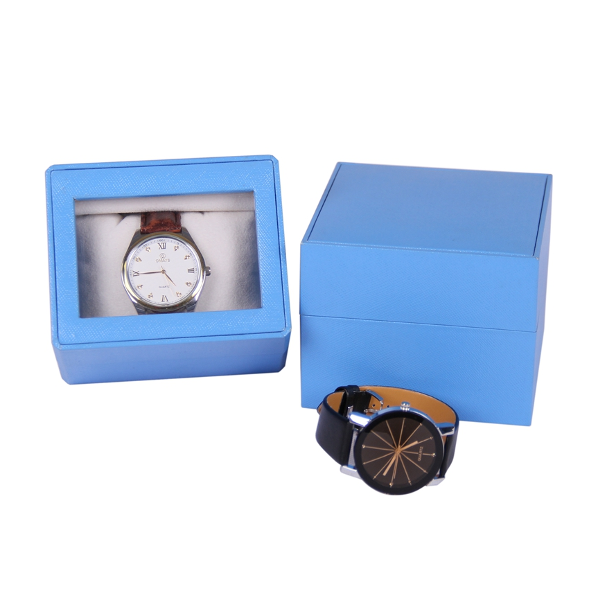 Free design plastic mens wrist watch jewelry packaging boxes