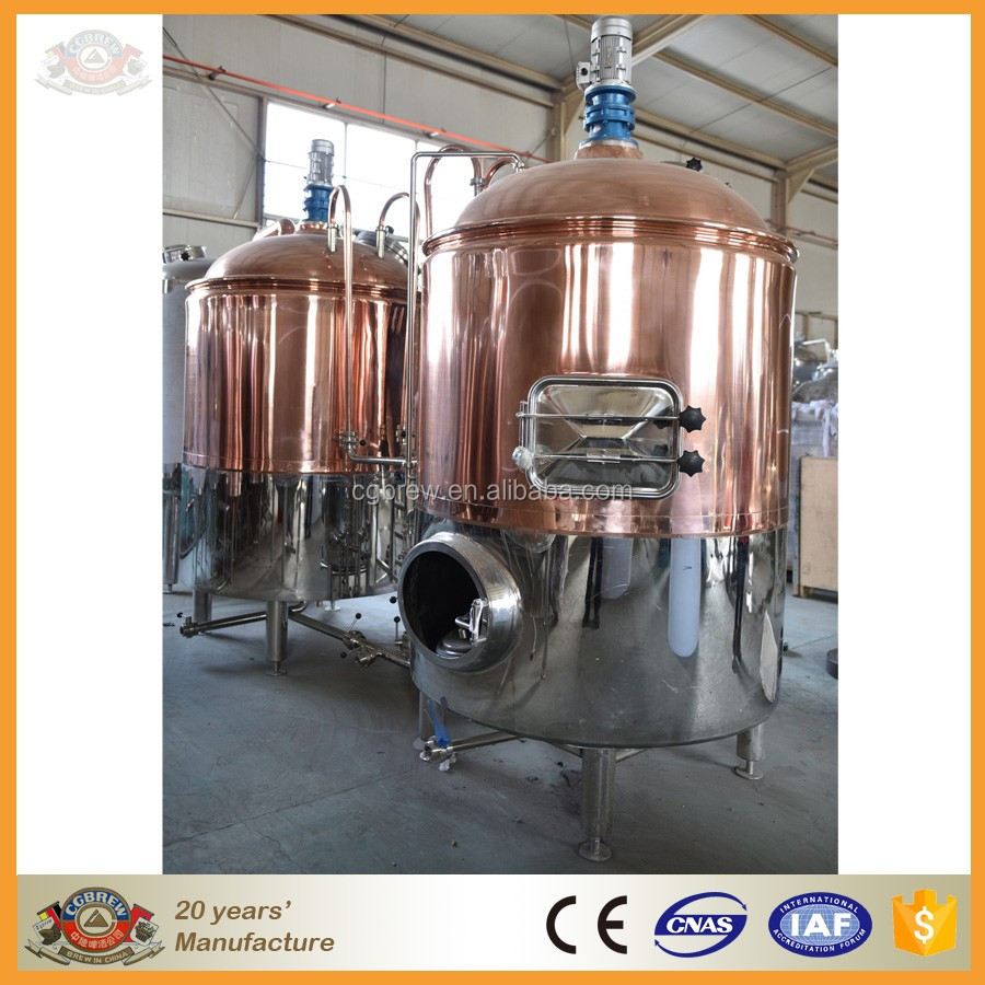 CG-500L steam heating generated craft beer making equipment