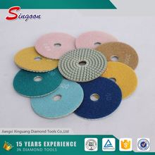 Flexible wet Diamond Angle Grinder Floor Diamond Polishing Pad For Renovating