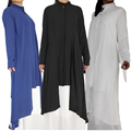 Latest Front Open Abaya For Muslim Women Solid Color With Belt Online Wholesale