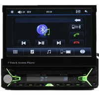 Bulethooth In-dash Deckless detachable FM USB SD CD/DVD Touch screen 1 din 7 inch car DVD