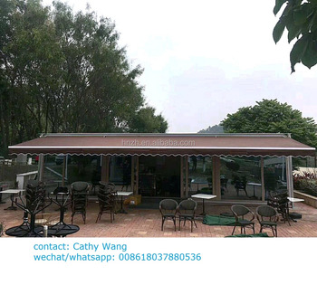 large size strong retractable awning with motorized