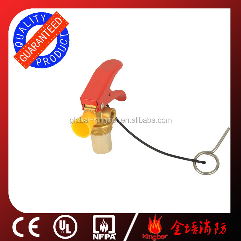 CE Standard Copper Material Red Handle <strong>1</strong>-2KG Mono-ammonium Phosphate Chemical Fire Extinguisher Valve with Yellow Plastic Nozzle
