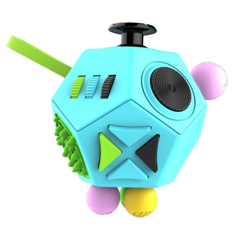 Latest hot selling 12 Sides Fidget Cube Anti Stress for Children and Adults