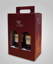 High Quality Wholesale Custom Cheap wine bottle box 2 bottles beer carriers wholesale glass storage boxes