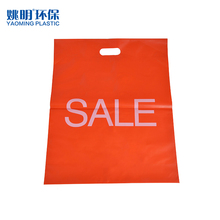 Custom printing orange shopping cheap plastic die cut bag