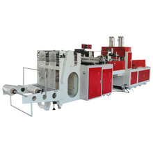 Hot seal and hot cut DL-R Series Two-line T-shirt bag making machine