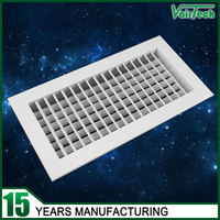 HVAC System Adjustable Double Deflection Supply Air Grille