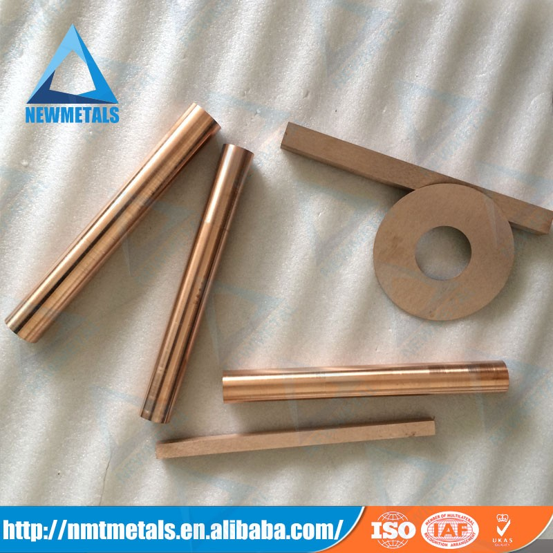 W/Cu 60/40 70/30 75/25 80/20 tungsten copper alloy for sale