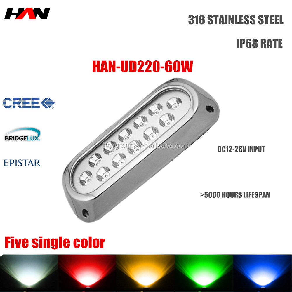 Hot sale flat stainless steel swimming pool underwater boat led lights