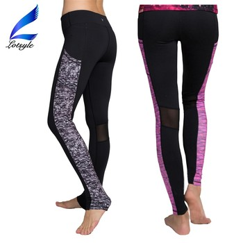 Footstep Tight Fitted Women Yoga Pants Leggings with Pockets