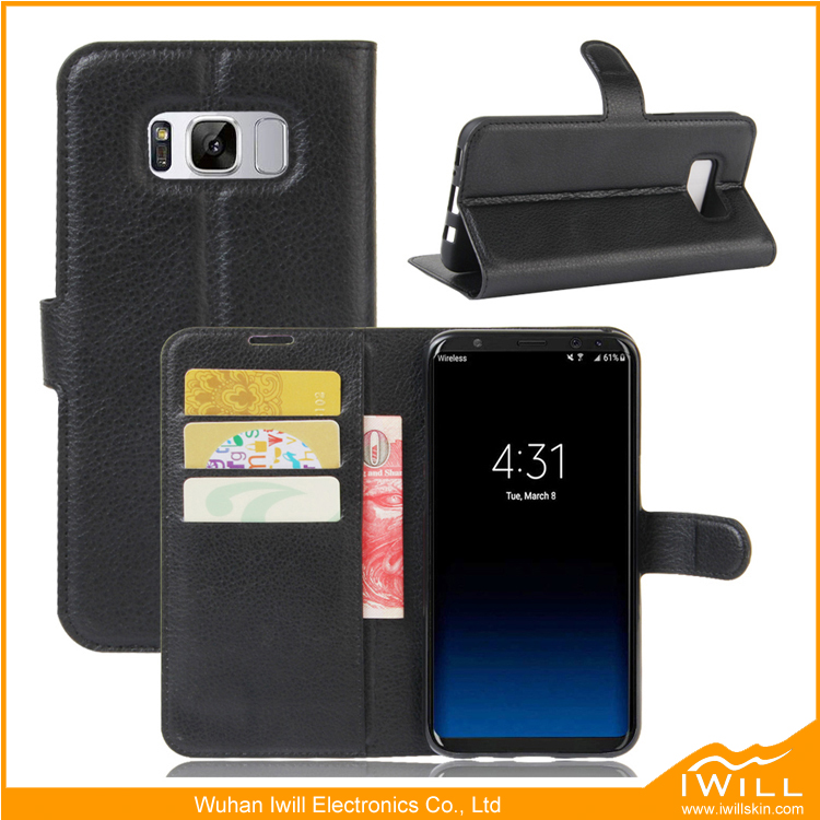 Wallet Leather Flip Case For Samsung S8 Wallet Flip Cover Mobile Phone Case