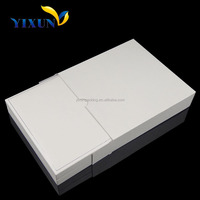 High quality necklace box display case paper cover plastic gift box for jewelry