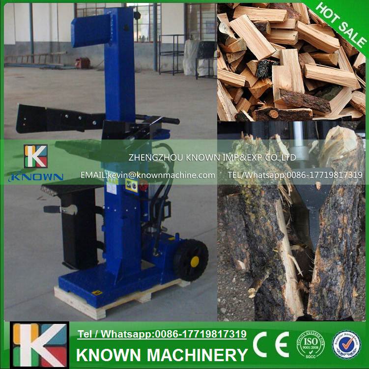 The CE approved 15 ton electric log splitter / kinetic log splitter