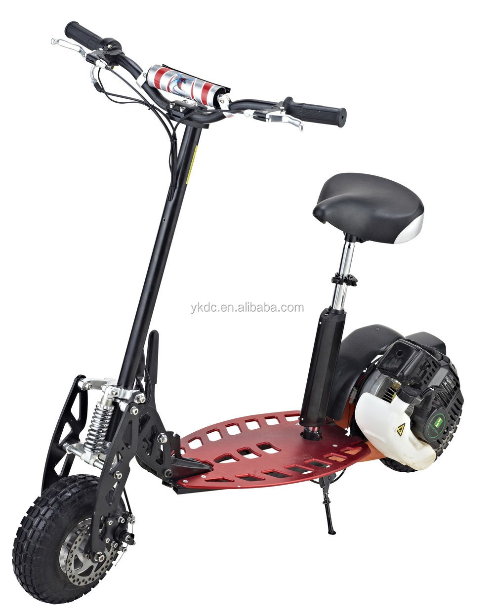 Adult two wheel 49CC gas scooter single speed or dual speed