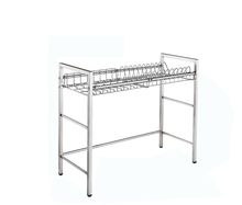 High quality space saving metal draining dish plate rack drain storage <strong>shelf</strong> for kitchen