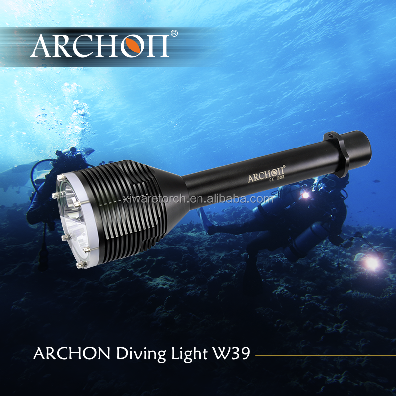 Professional waterproof 3000 Lumens diving powerful <strong>led</strong> flashlight with rechargeable battery
