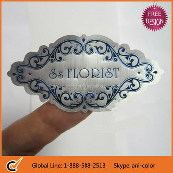 high-end customized hot foil stamp adhesive sticker