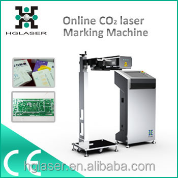 hot sale CO2 online flying laser maring machine