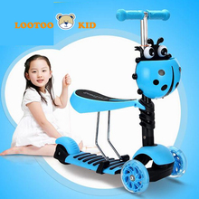 Alibaba china factory hot sale cheap price 5 in 1 mini kick push scooter